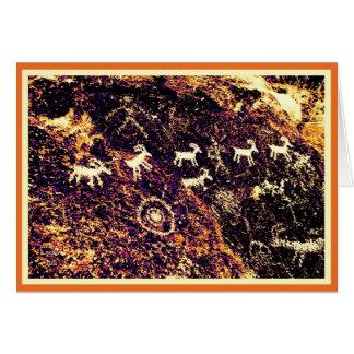 PETROGLYPHS NEVADA DESERT AMERICAN SOUTHWEST CARD