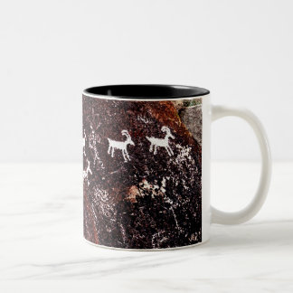 PETROGLYPHS NEVADA DESERT AMERICAN SOUTHWEST Two-Tone COFFEE MUG
