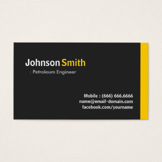 Petroleum Engineer - Modern Minimalist Amber Business Card