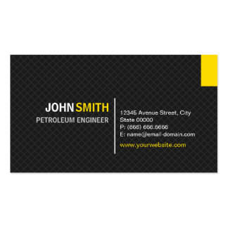 Petroleum Engineer - Modern Twill Grid Pack Of Standard Business Cards