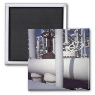 Petroleum refinery pipeline magnet