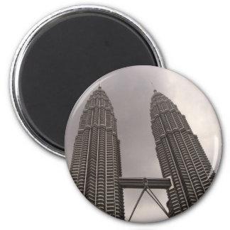 Petronas Towers 6 Cm Round Magnet