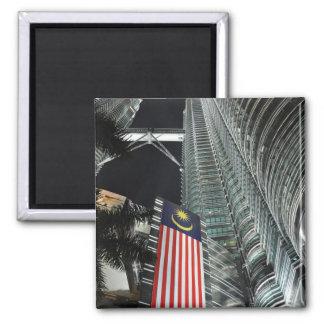 Petronas Towers at Night Fridge Magnet