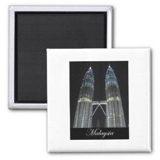Petronas Towers at Night Refrigerator Magnets
