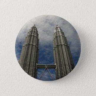Petronas Towers Kuala Lumpur Malaysia 6 Cm Round Badge
