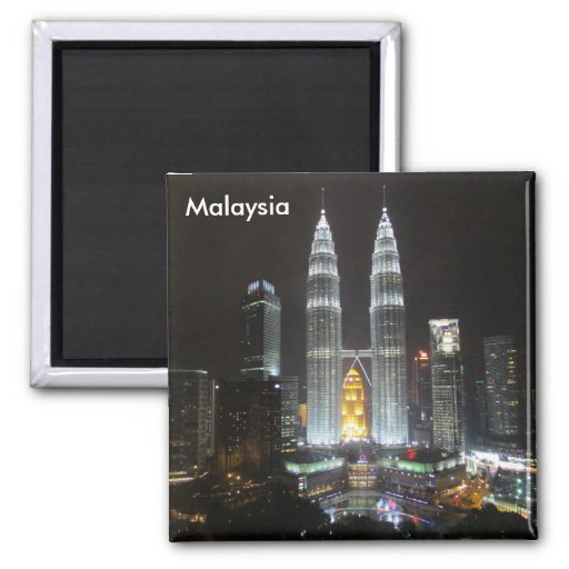 petronas towers malaysia refrigerator magnet