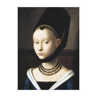 Petrus Christus Portrait of a Young Woman Canvas Print