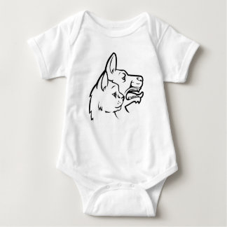 Pets Cat and Dog Faces Icon Baby Bodysuit