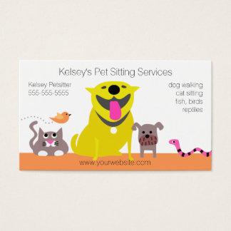 Pets - dog cat bird snake business card
