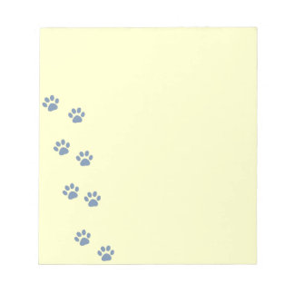 pets dog cat pawprints notepads