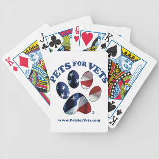 Pets for Vets Bicycle Playing Cards