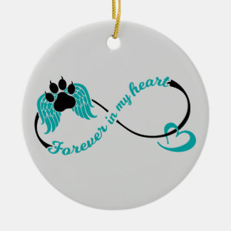 Pets Forever In My Heart Ceramic Ornament