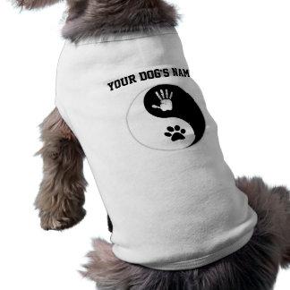 Pet's: HandToPaw Yin-Yang Dog Shirt With Name