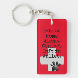 Pets ICE Contact Alert Key Ring
