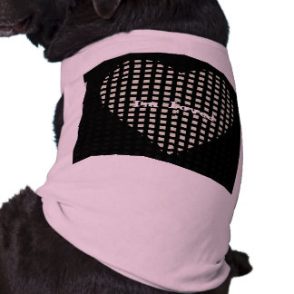 Pets_I'm Loved_Blk & Pink_Heart_TEMPLATE_ Sleeveless Dog Shirt
