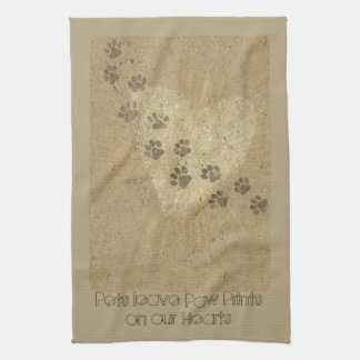 Pets leave Paw Prints on our Hearts Tea Towel
