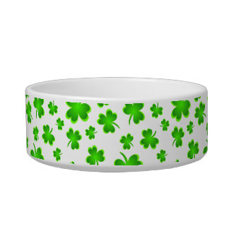 Pet's Name Lucky Dog St. Patrick's Day Bowl