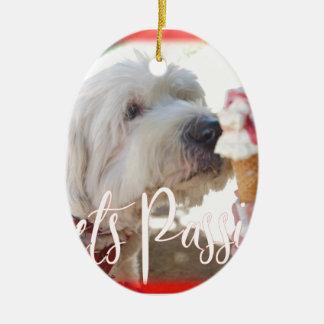 Pets Passion Ceramic Ornament