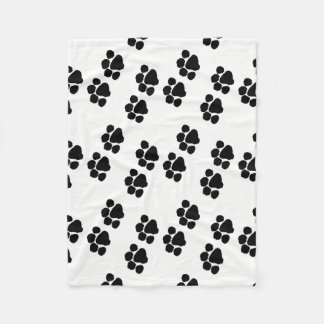 Pets Paw Prints Fleece Blanket