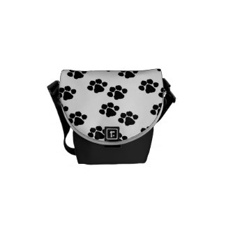 Pets Paw Prints Messenger Bags