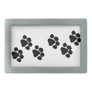 Pets Paw Prints Rectangular Belt Buckles