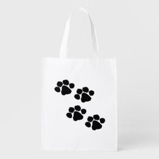 Pets Paw Prints Reusable Grocery Bag