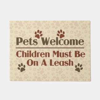 Pets Welcome Humour Doormat