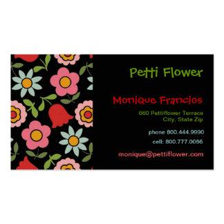 Petti Flower - Black - Business Card