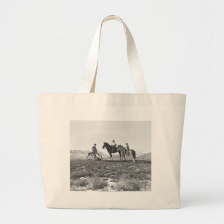 Petting Antelopes. Large Tote Bag