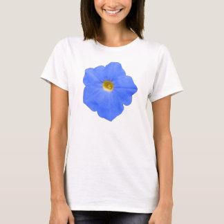 Petunia Blue and Yellow Ladies T Shirt