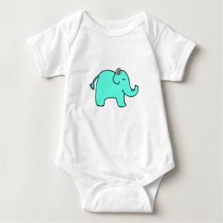 Petunia the Elephant - Daisy Baby Bodysuit