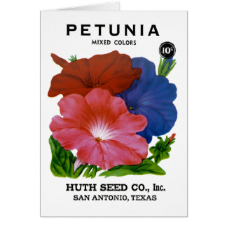 Petunia Vintage Seed Packet Card