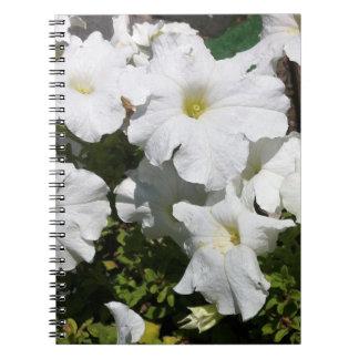 Petunia White Flower Notebook