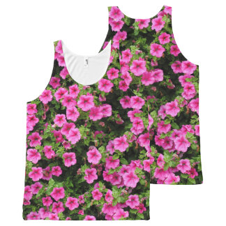 Petunias and lawn All-Over print singlet