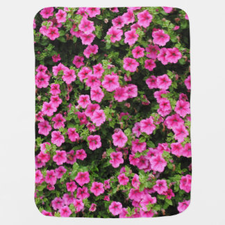 Petunias and lawn baby blanket