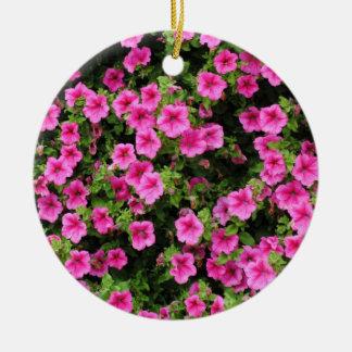 Petunias and lawn ceramic ornament