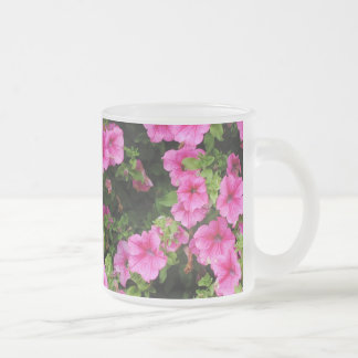 Petunias and lawn frosted glass coffee mug
