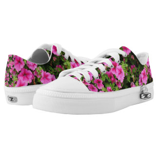 Petunias and lawn low tops