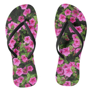 Petunias and lawn thongs