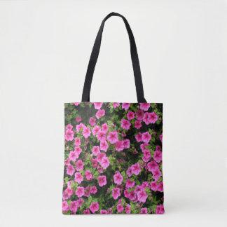 Petunias and lawn tote bag