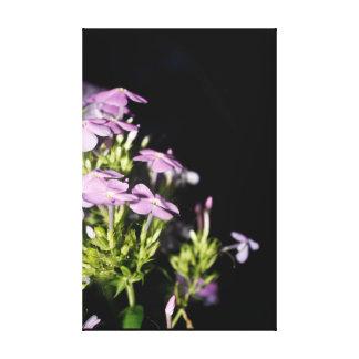 Petunias At Night Purple Flower Wall Art