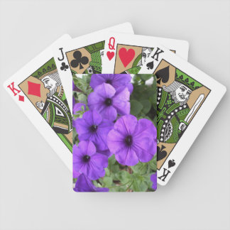 Petunias Bicycle Playing Cards