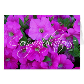 Petunias Congratulations Card