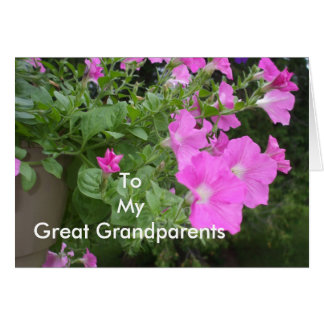 Petunias for Great Grandparents Card