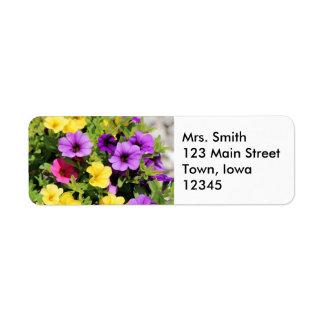 Petunias Return Address Label