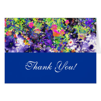 Petunias Thank You! Card