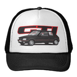 Peugeot 205 GTi with text, black Cap