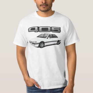 Peugeot 405 with wing + model badge DIY white T-Shirt