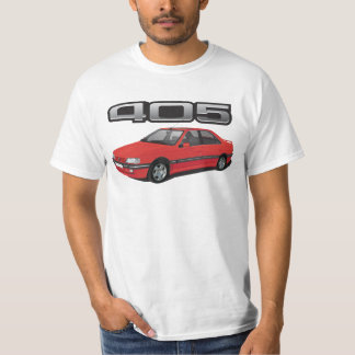 Peugeot 405 with wing, red, DIY T-Shirt