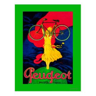 Peugeot Bicycle Vintage PosterEurope Postcard